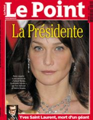 Carla Présidente en couverture du Point