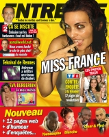 Miss France s'exhibe dans Entrevue