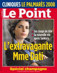 Rachida Dati extravagante dans Le Point