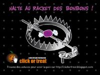 Racket de bonbons pour Halloween