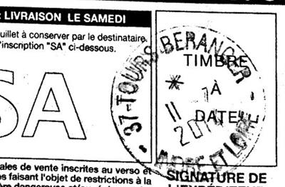 timbre à date de La Poste